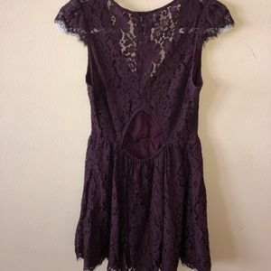 Kimchi Blue Dresses - Maroon lace mini dress.